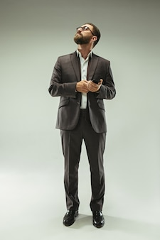Handsome businessman with mobile phone