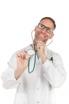 Handsome doctor with glasses