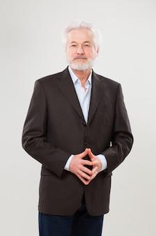 Handsome elderly businessman in suit