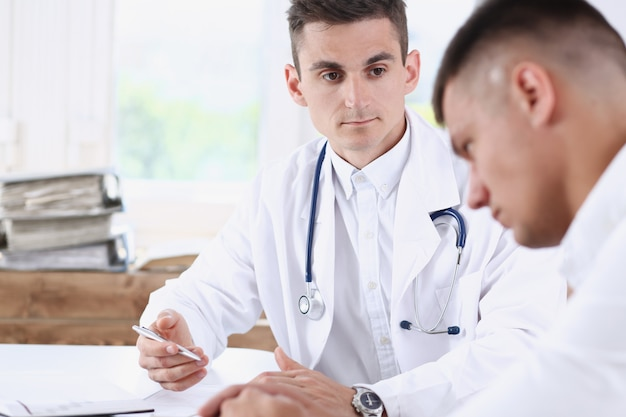 Handsome male medicine doctor with