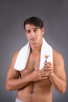 Handsome man after morning shower