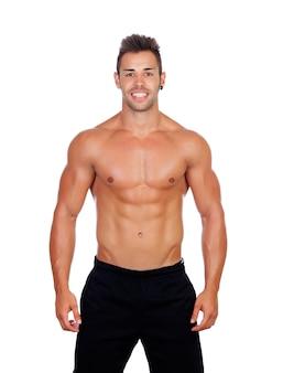 Handsome muscled men