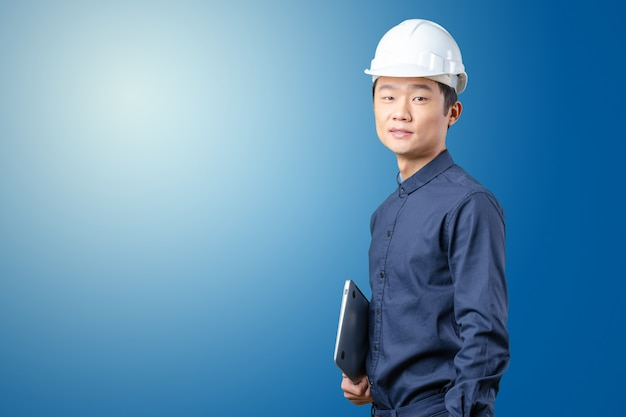 Handsome young asian man architect