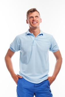 Handsome young guy in casual clothing
