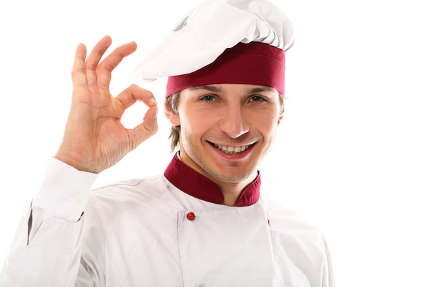 Handsome young man chef portrait