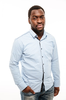 Handsome young man dressed in shirt