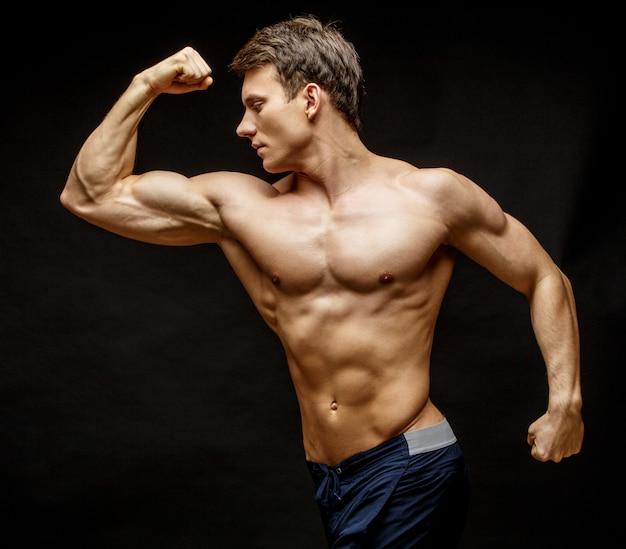 Handsome young man's torso