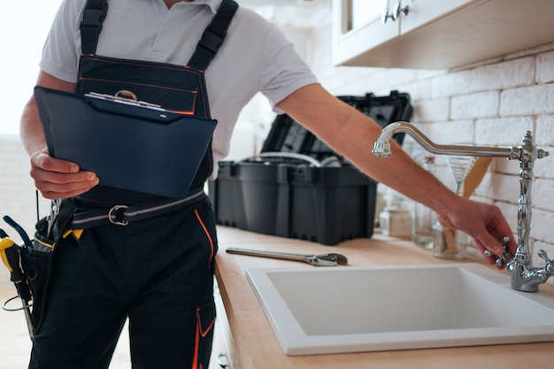 Handyman with toolbox