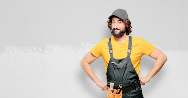 Handyman worker satisfied and proud