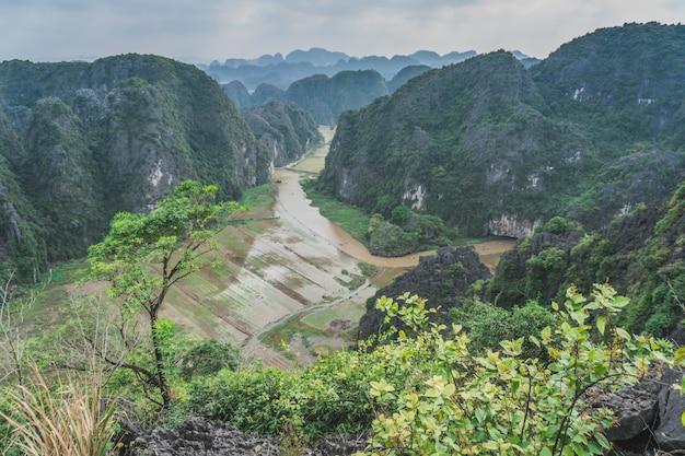 Hang mua peak landscape in ninh binh, vietnam