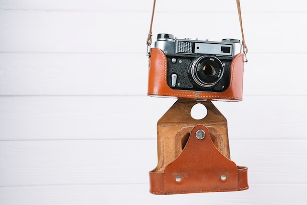 Hanging camera in case