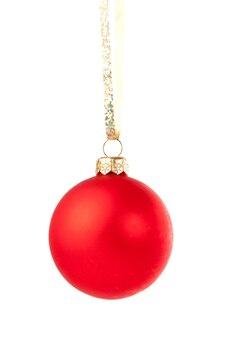 クリスマスの赤い安物の宝石をぶら下げ