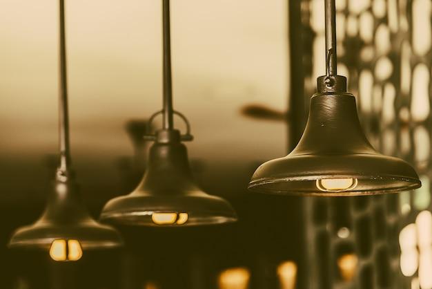 Hanging glass lamp light vintage