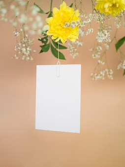 Hanging wedding ceremony invitation