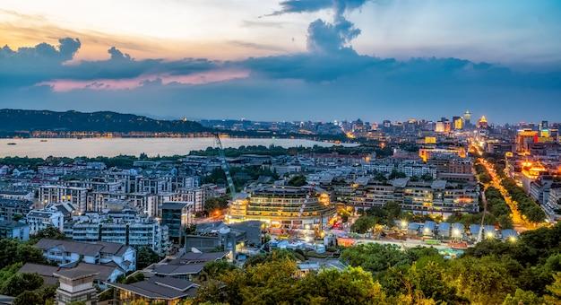 Ханчжоу город skyline китай
