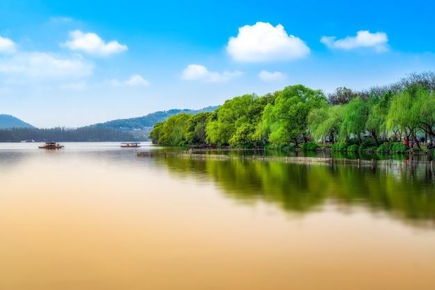 Hangzhou west lake garden natural landscape