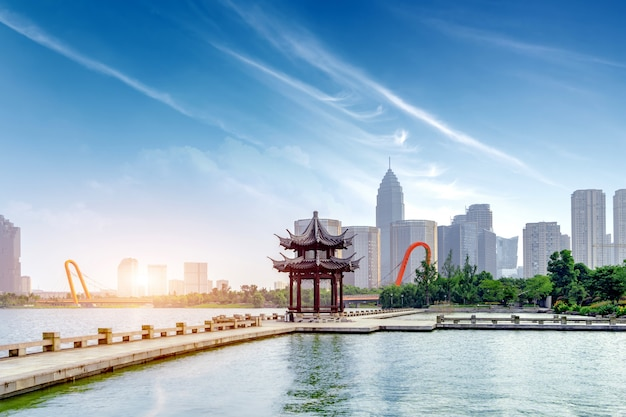 Ханчжоу западное озеро пейзаж