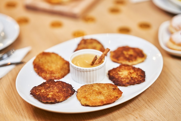 Hanukkah dinner traditional dishes