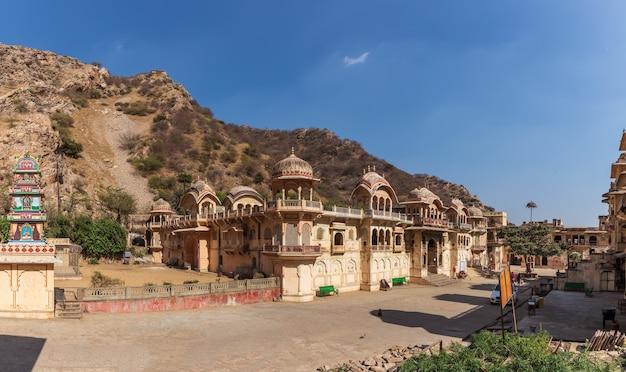 Hanuman ji temple in galta ji complex or monkey temple, india, jaipur.