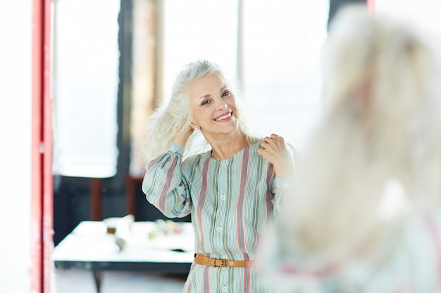 Happy aged woman
