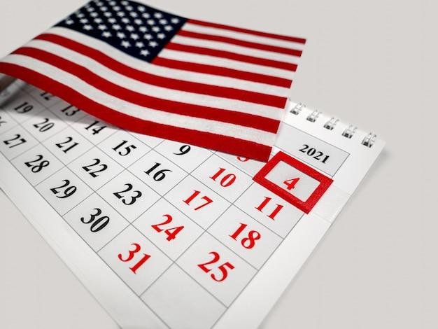 国民国家の愛国的な休日である7月4日のハッピーアメリカン独立記念日