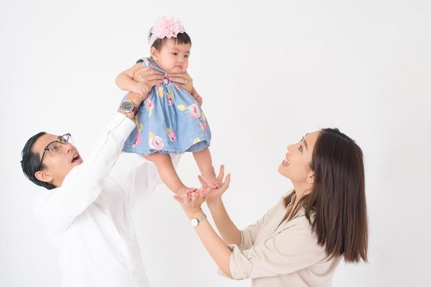 행복한 아시아 가족