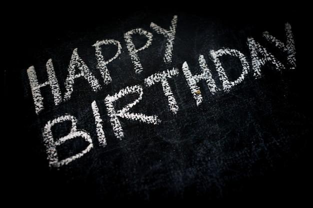 黒板に誕生日おめでとう招待メッセージ