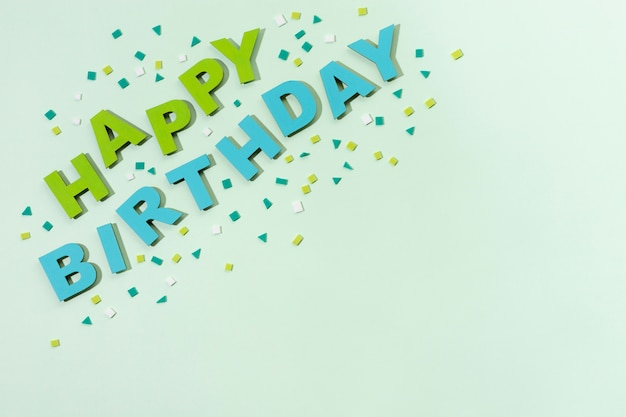 Happy birthday lettering in paper style
