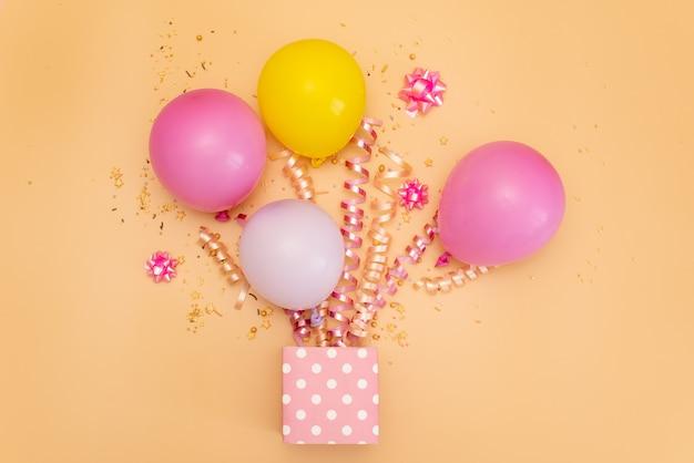 Happy birthday theme on a bright split tone background