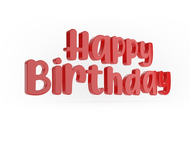 Happy birthday word on white surface