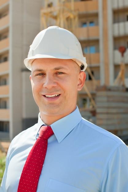 Happy builder in hardhat