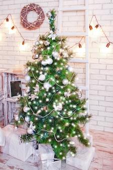 해피 크리스마스 하우스 배경