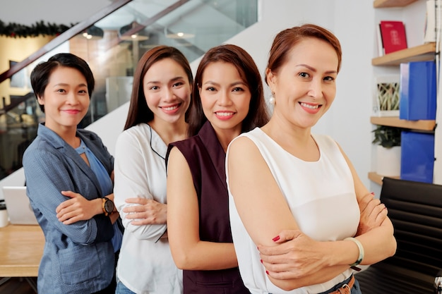 Happy confident businesswomen