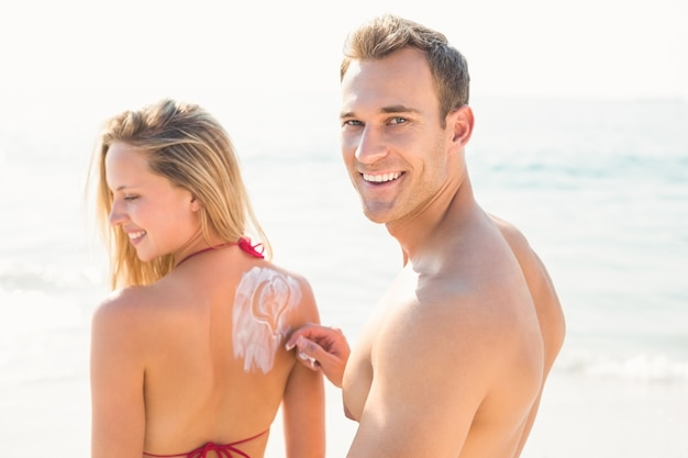 Happy couple smiling