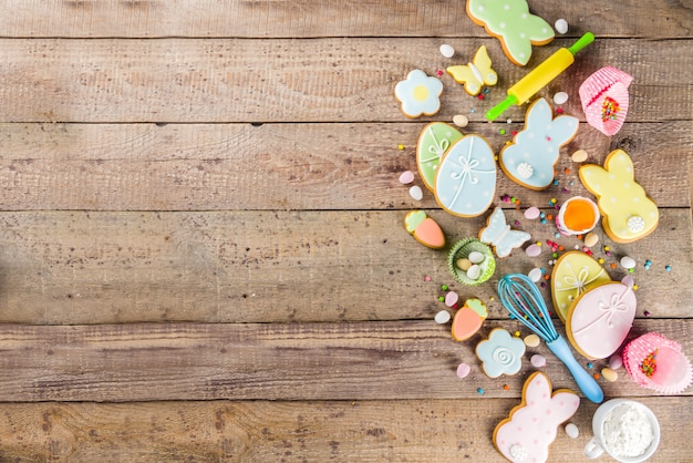 Happy easter baking background