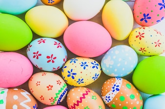 Happy easter!  Colorful Easter eggs background.