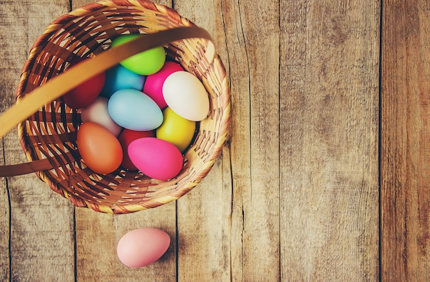 Happy easter. selective focus. holidays and events.