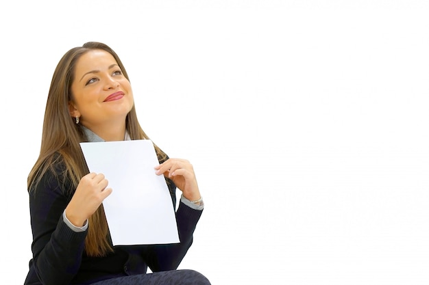 Happy entrepreneur woman reading good news in a letter on sofa