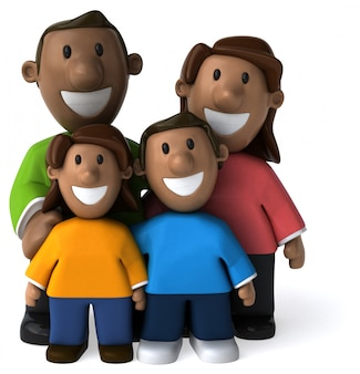 Happy family - 3d illustration