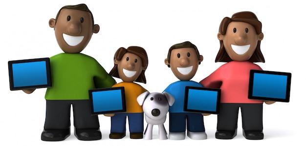 Счастливая семейная анимация