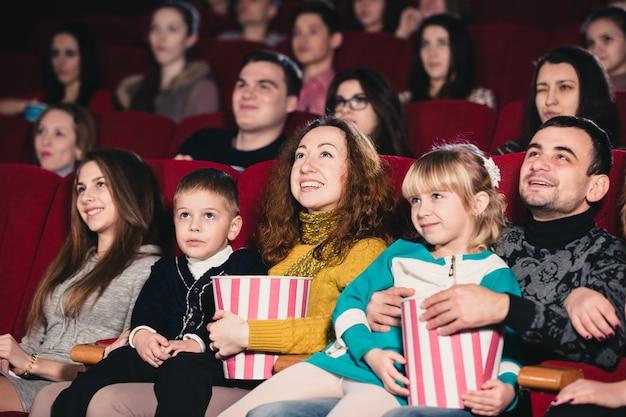 Happy family in the movie