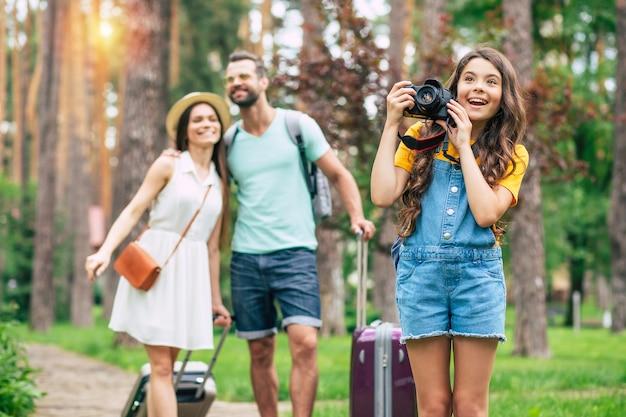 Happy family in vacation
