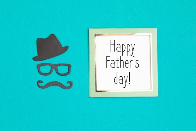 С днем отцов поздравительная открытка флаер, приглашение, праздник или плакат