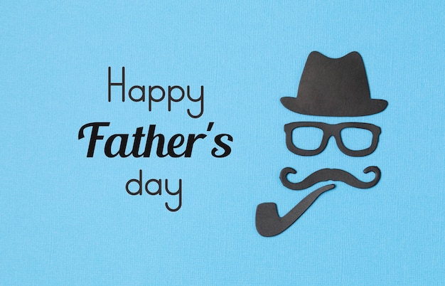 Happy fathers day greeting card flyer, invitation, celebration or poster