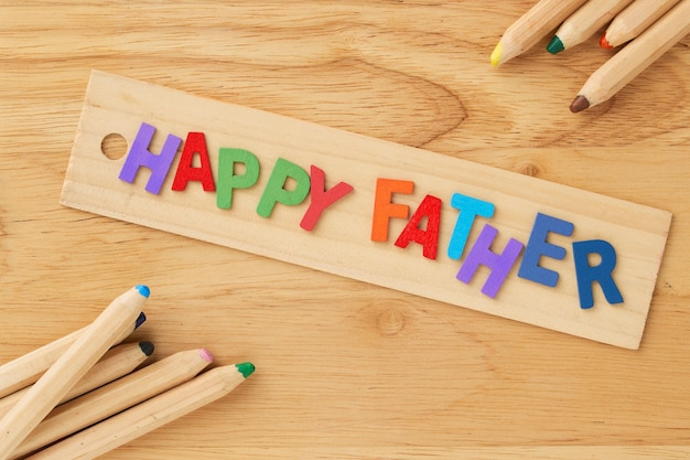 Happy fathers day wooden letter