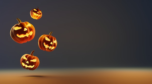 Happy halloween background with copy space.