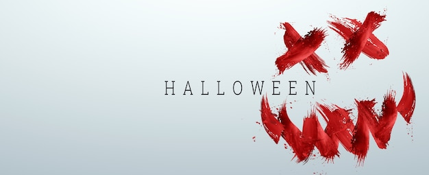 Happy halloween banner. halloween inscription on a white