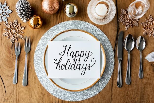 Happy holidays cheerful greeting word
