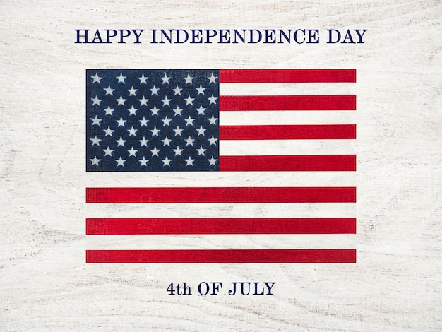 Happy independence day. beautiful greeting card. close-up
