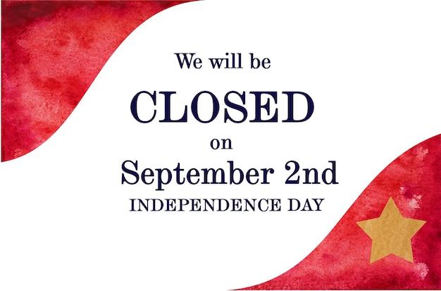 독립기념일을 축하합니다. 아름 다운 인사말 카드입니다. 확대